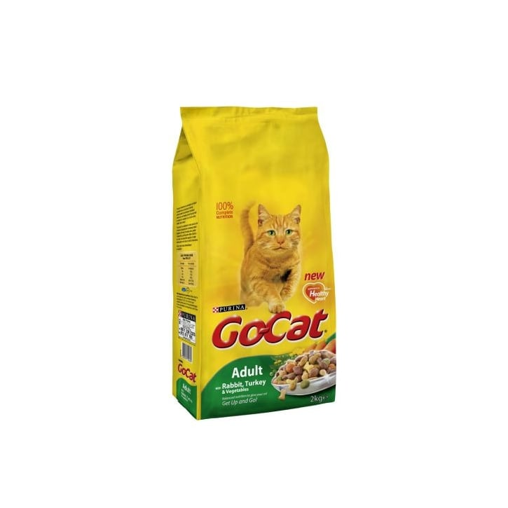 Purina Go Cat Complete Dry Cat Food Rabbit,Turkey & Veg 2kg