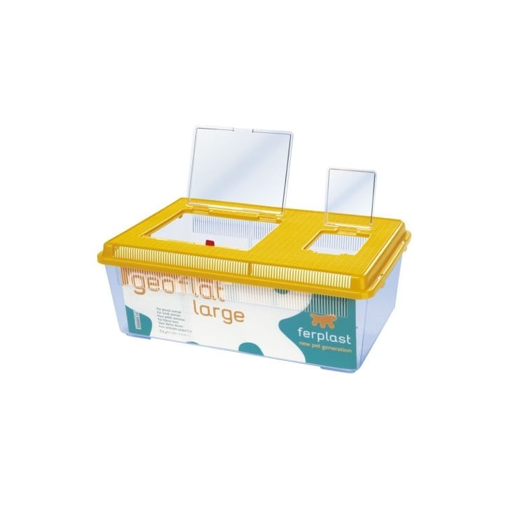 Buy ferplast geo flat plastic small animal fish tank large for Small plastic fish bowls