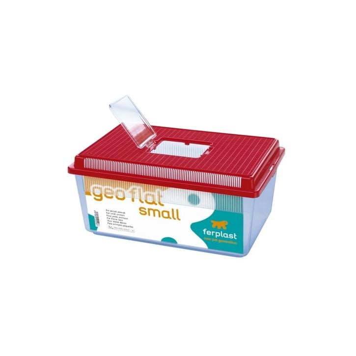 Buy ferplast geo flat plastic small animal or fish tank for Small plastic fish bowls