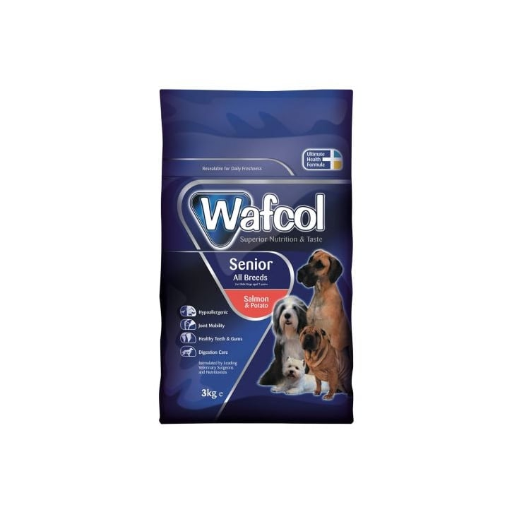 Wafcol Hypoallergenic All Breeds Senior Dog Food - Salmon & Potato 3kg