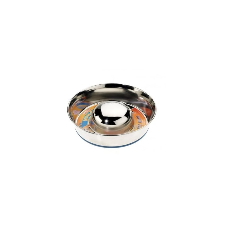 Stainless Steel Slow Feed Dog Bowl Uk