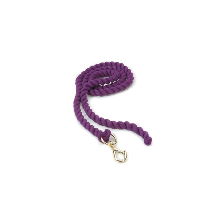 Shires Equestrian Products Plain Headcollar Lead Rope Purple