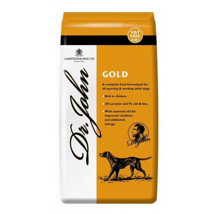 Dr John Gold Complete Adult & Working Dog Food 15kg Vat Free