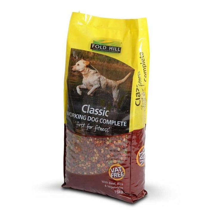Foldhill Classic Working Dog Roast Beef, Rice & Veg 15kg Vat Free