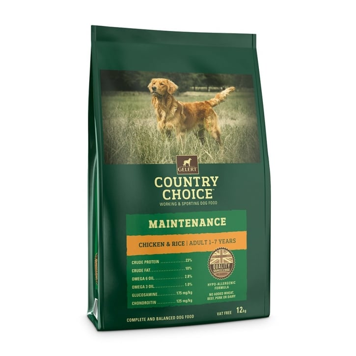 Gelert Country Choice Maintenance Adult Dog Food Chicken & Rice 12kg