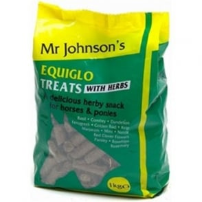 Mr Johnsons Equiglo Horse Treats With Herbs 1kg Bag