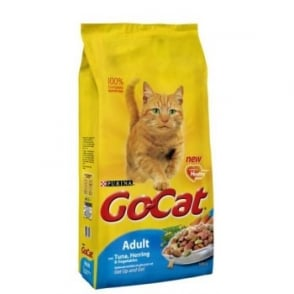 Purina Go Cat Complete Dry Cat Food Tuna,Herring & Veg 10kg