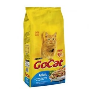 Purina Go Cat Complete Dry Cat Food Tuna,Herring & Veg 2kg