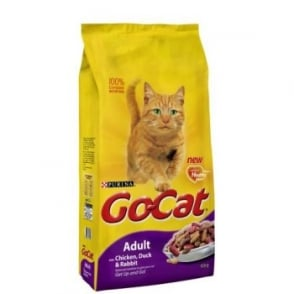 Purina Go Cat Complete Dry Cat Food Duck,Rabbit & Chicken 10kg