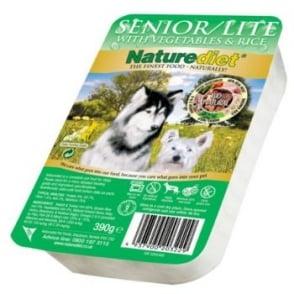 Naturediet Pet Foods Senior Lite Rabbit & Turkey With Veg - 390gm