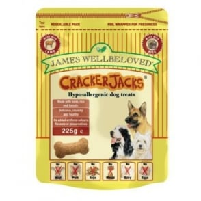 James Wellbeloved Crackerjacks Dog Treat - Lamb 225gm