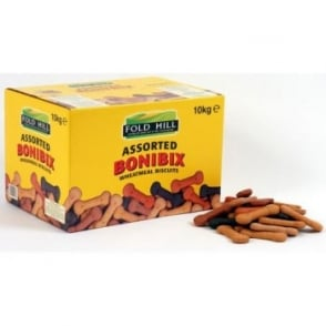 Foldhill Bonibix Assorted Dog Biscuits - 10kg Large