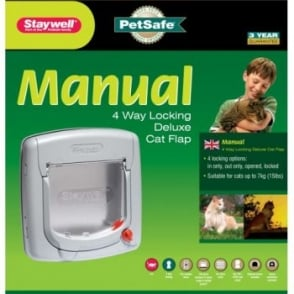 Staywell 340 Efs 4 Way Locking Cat Flap - Silver Grey