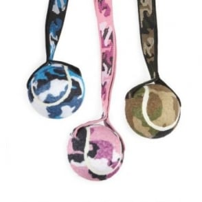 Ancol Tennis Ball & Camo Strap Dog Play Toy