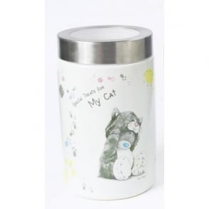 Pet Brands Me To You © Ceramic Cat Food Storage Container