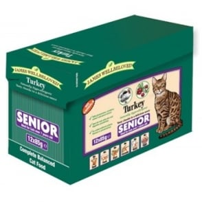 James Wellbeloved Cat Pouch Senior Turkey 85gm - 12pack