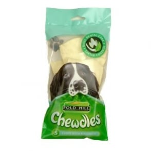 Foldhill Chewdles Dog Chews - Fluoride - Pack 5 Chips.
