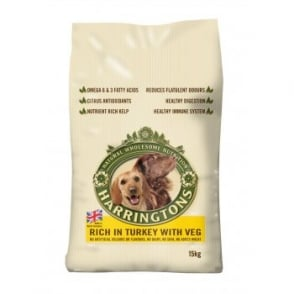 Harringtons Dog Food - Turkey & Veg 15kg