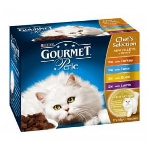 Nestle Purina Gourmet Perle Pouch Chefs Selection 12x85gm pack