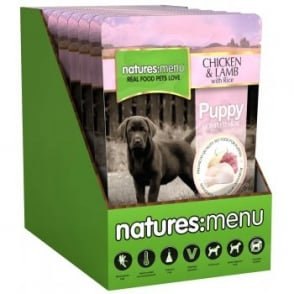 Natures Menu Puppy Dog Food - Chicken With Lamb & Rice 8x300gm