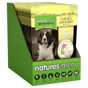 Anglian Meat Products Natures Menu Light Adult Dog Food Chicken, Rabbit, Veg & Rice 8x300gm