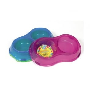 Pet Brands Translucent Double Supper Bowl