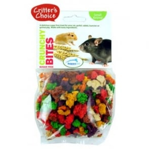 Happy Pet Critter's Choice Small Animal Crunchy Bites 100gm