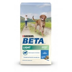 Beta Complete Light Adult Dog Food With Turkey 14kg