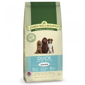 James Wellbeloved Junior Dog Food Duck & Rice Kibble 2kg