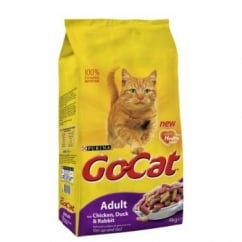 Purina Go Cat Complete Dry Cat Food Duck,Rabbit & Chicken 4kg