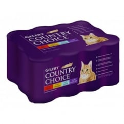 Cambrian Pet Gelert Country Choice Cat Cij - Variety 12pack 400gm