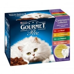 Nestle Purina Gourmet Perle Pouch Connoisseurs Selection 12x85gm pack