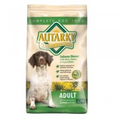 Autarky Adult Complete Dog Food Salmon & Rice 2.5kg Vat Free