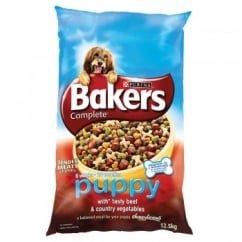 Bakers Complete Puppy with Tasty Beef & Country Vegetables 12.5kg