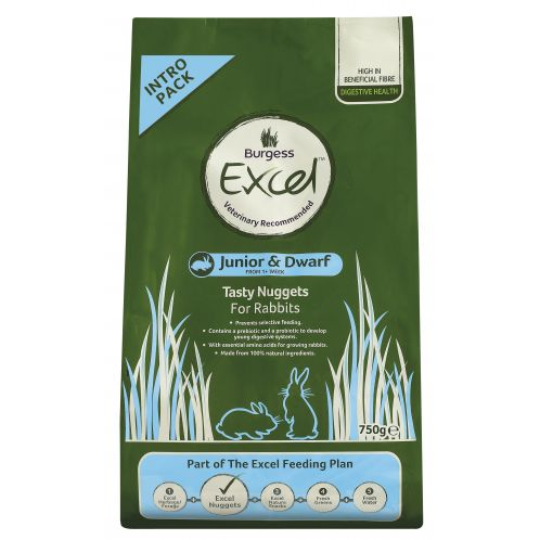 Burgess Excel Rabbit Junior & Dwarf Complete Food - 4kg