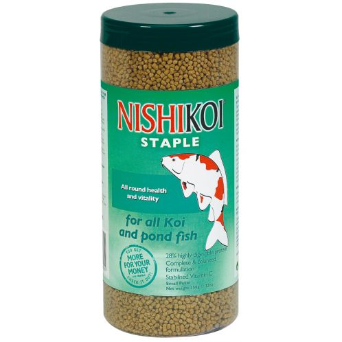 Nishikoi staple small pellet pond fish food 250gm feedem for Pond fish food
