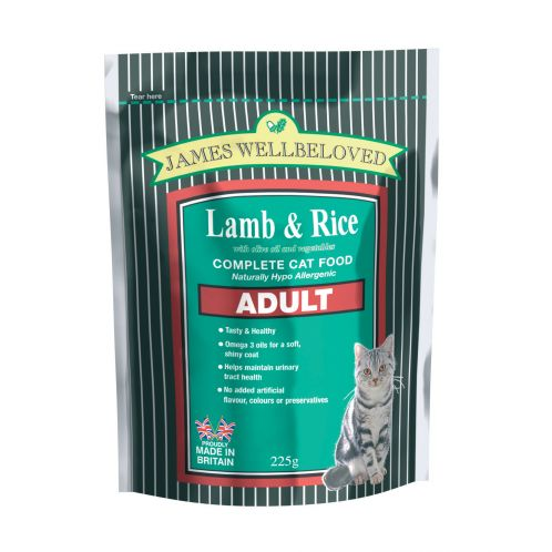 James Wellbeloved Complete Adult Cat Food - Lamb & Rice