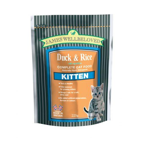 James Wellbeloved Complete Kitten Cat Food - Duck & Rice