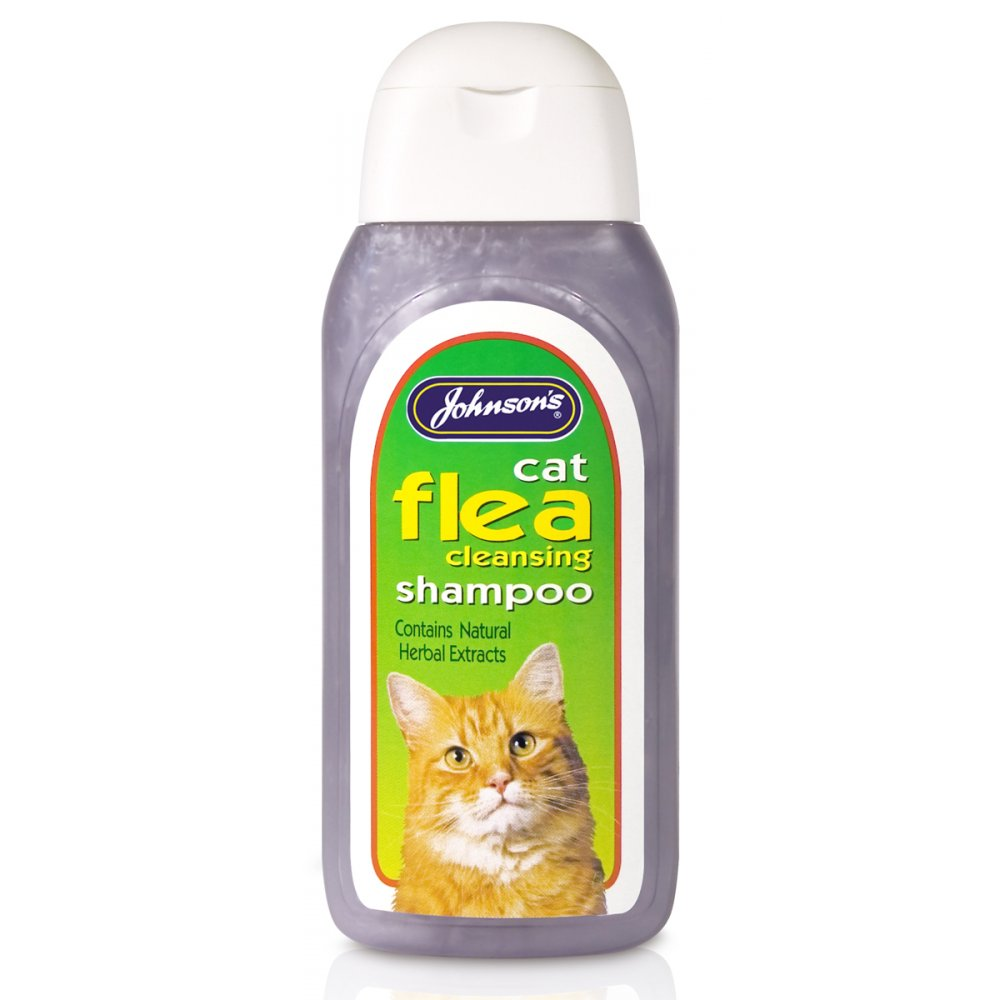 Johnsons Veterinary Products Cat & Kitten Flea Cleansing Shampoo - 200ml