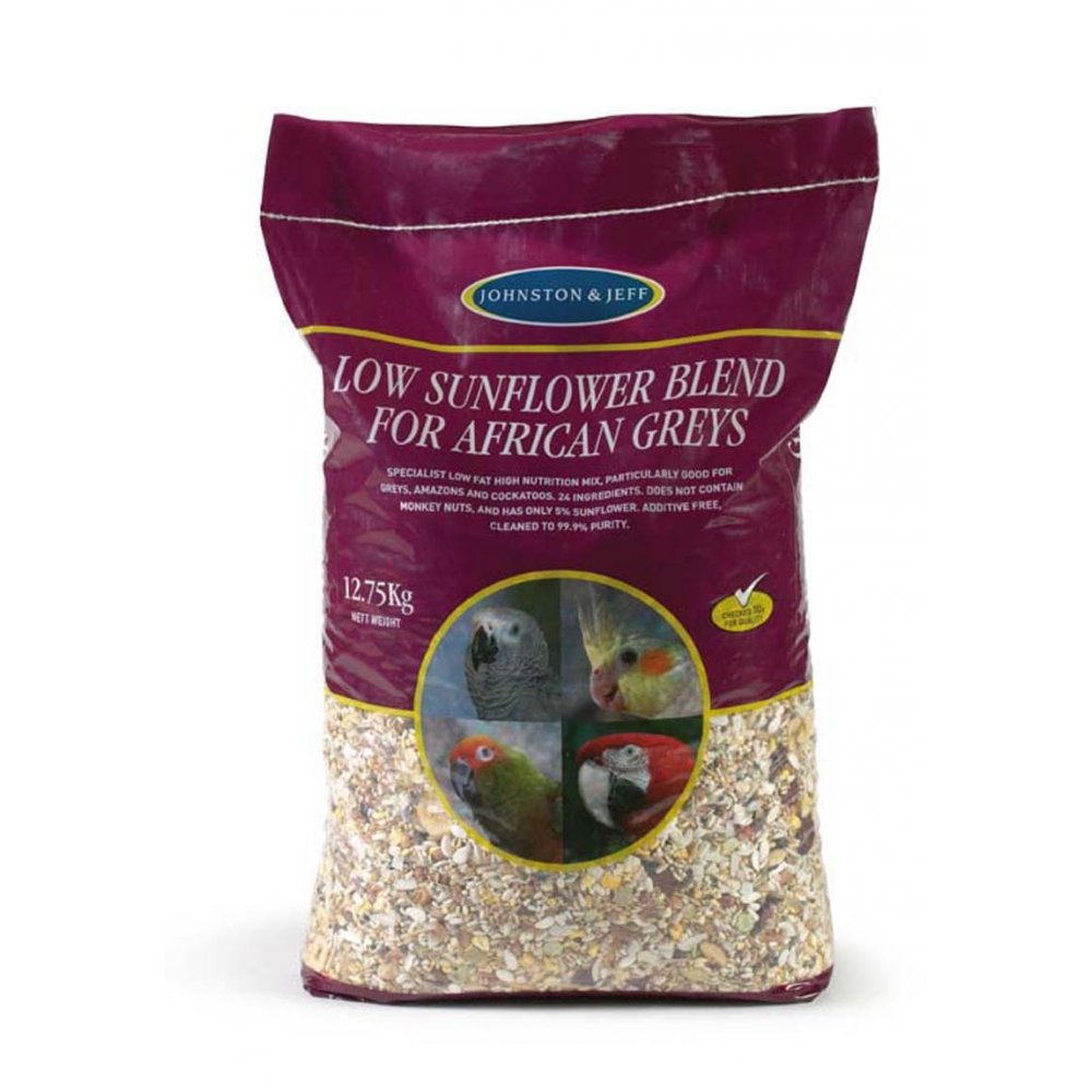 Johnston & Jeff African Grey Low Sunflower Seed 12.75kg