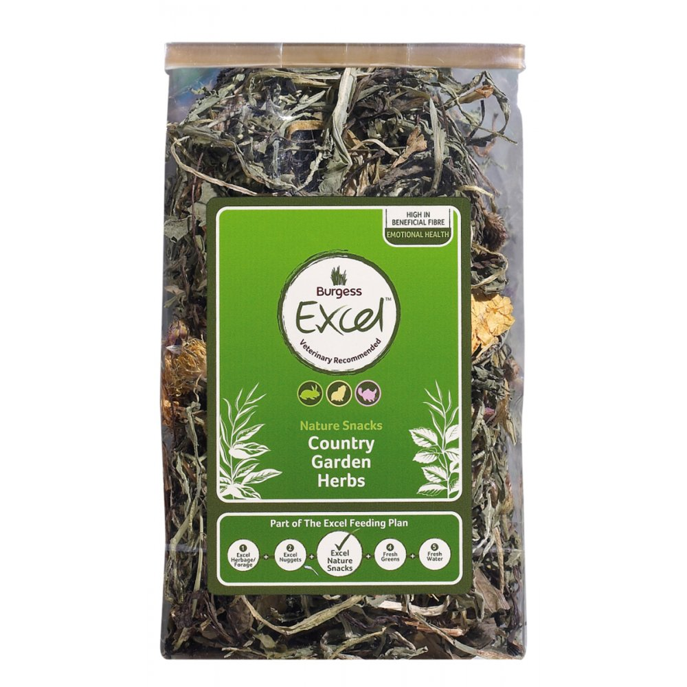 Burgess Excel Nature Snacks Country Garden Herbs 120gm