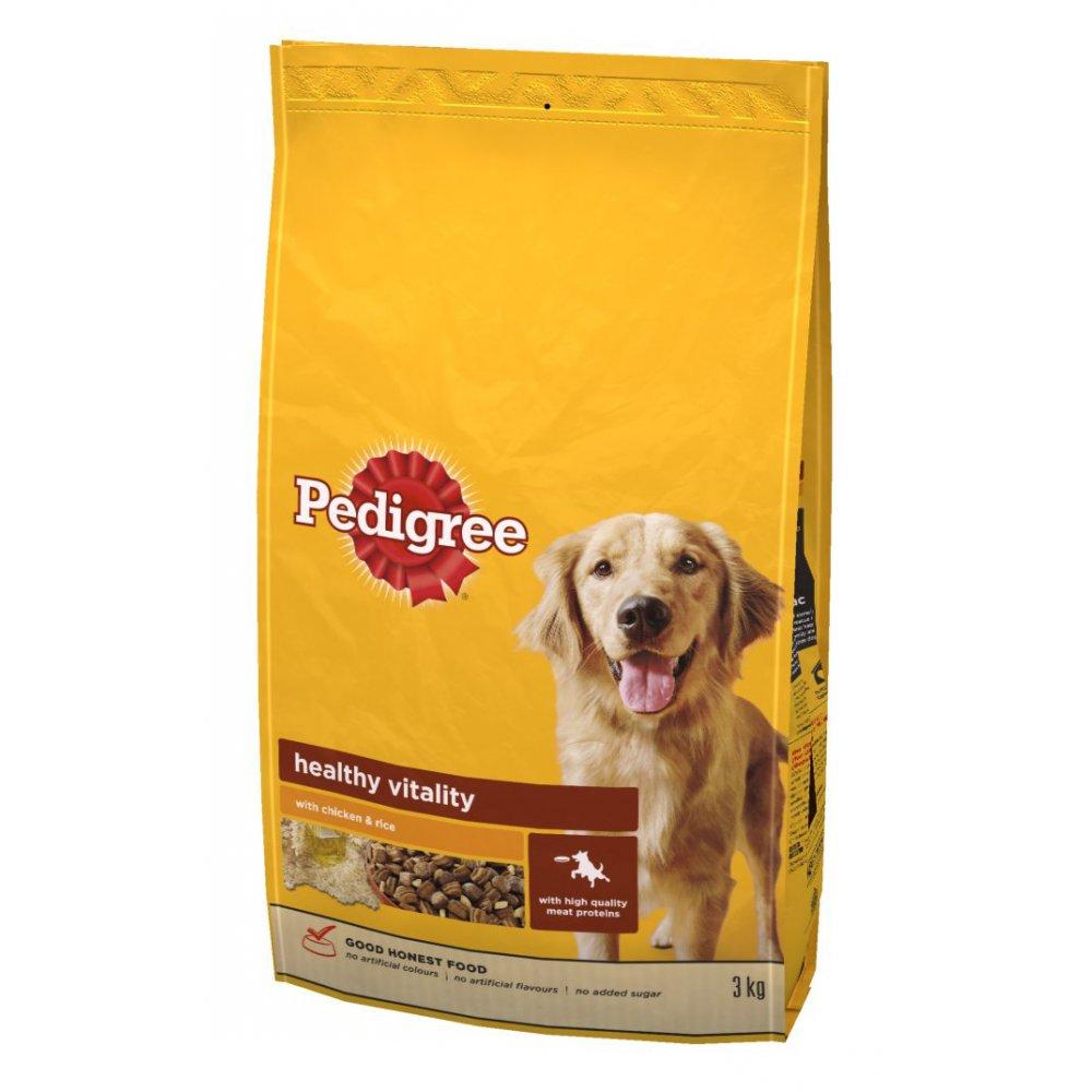 Buy Pedigree Adult Dog Food Chicken & Rice 3kg+3kg FREE