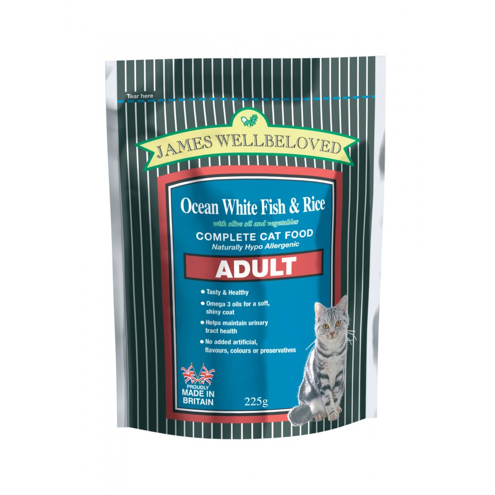 James Wellbeloved Complete Adult Cat Food Ocean White Fish & Rice