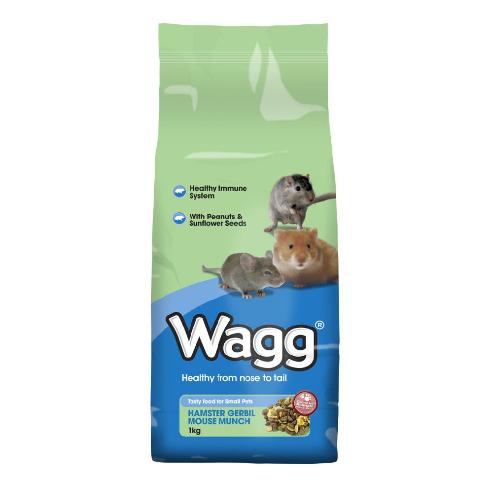 Wagg Foods Hamster, Gerbil & Mouse Munch - Small Animal Food 1 kg