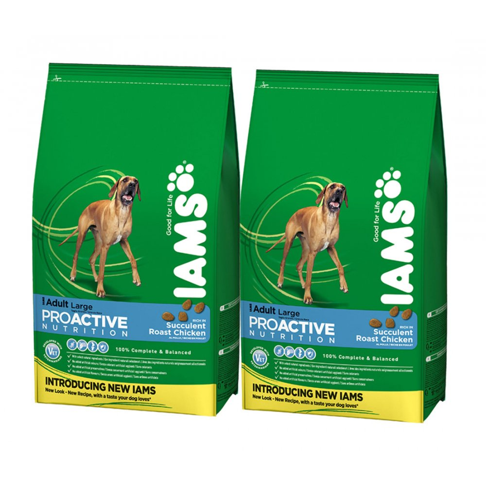 Iams Adult Large Breed Rich In Chicken Dog Food 2 x 15kg