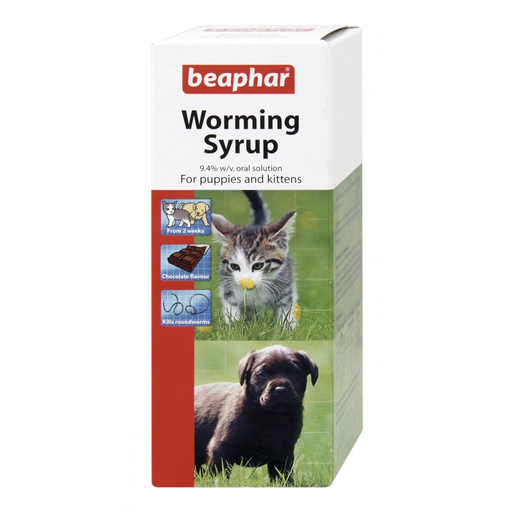 Buy Beaphar Dog And Cat Worming Syrup 45ml