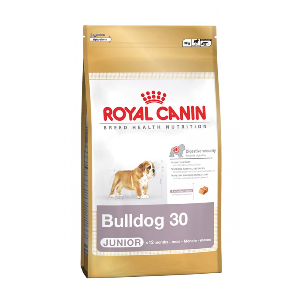 royal canin bulldog junior dog food 3kg feedem. Black Bedroom Furniture Sets. Home Design Ideas