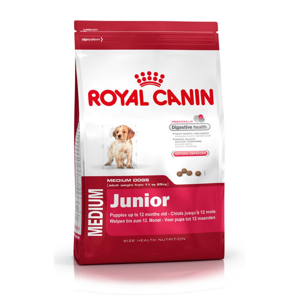 royal canin medium junior dog food 15kg feedem. Black Bedroom Furniture Sets. Home Design Ideas