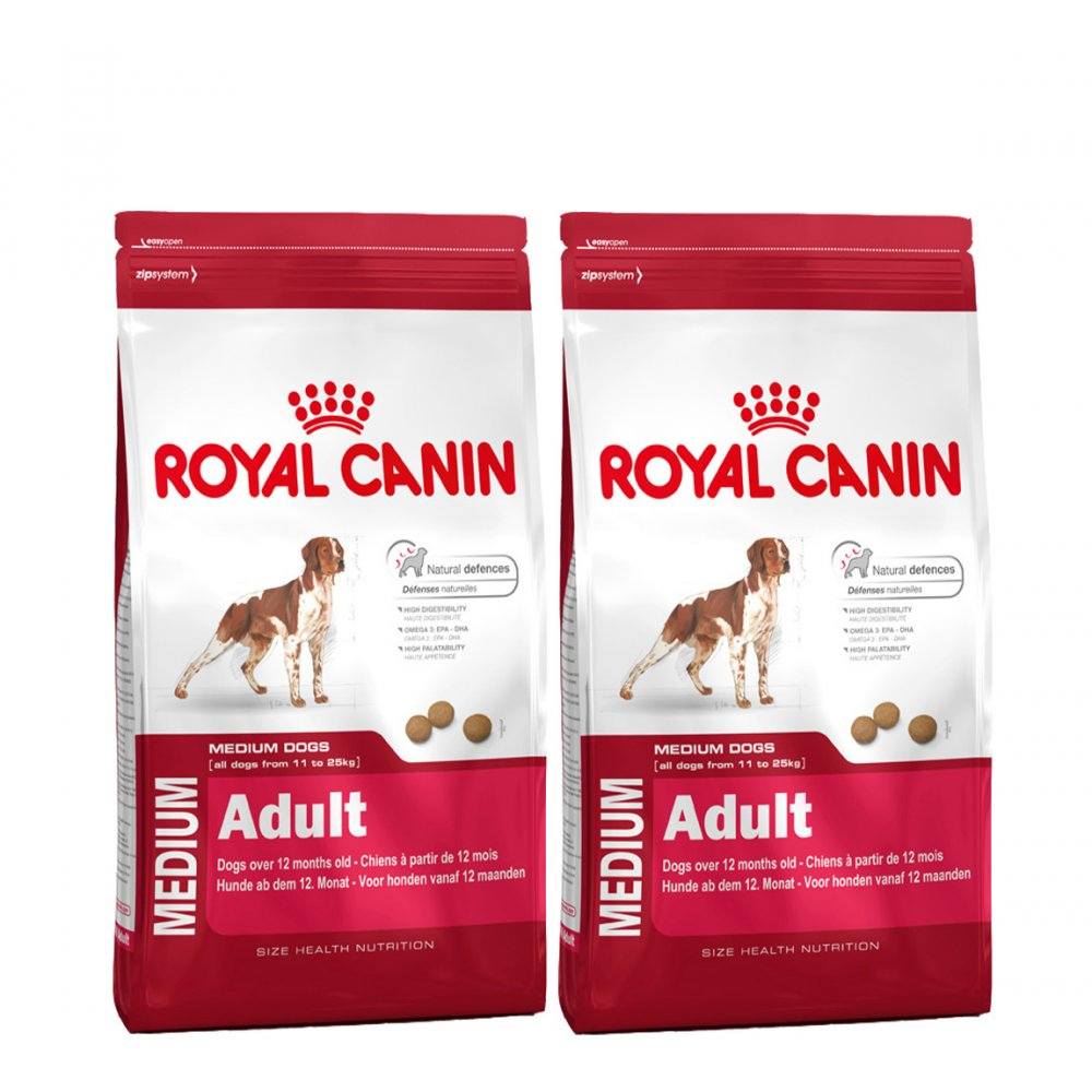 royal canin medium adult complete dog food 2x15kg feedem. Black Bedroom Furniture Sets. Home Design Ideas