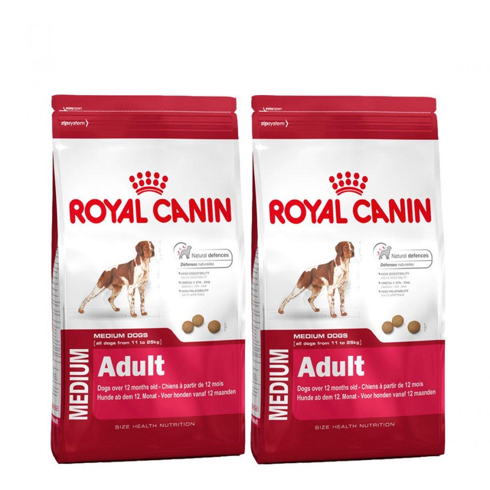 royal canin medium adult complete dog food 2x15kg feedem. Black Bedroom Furniture Sets. Home Design Ideas